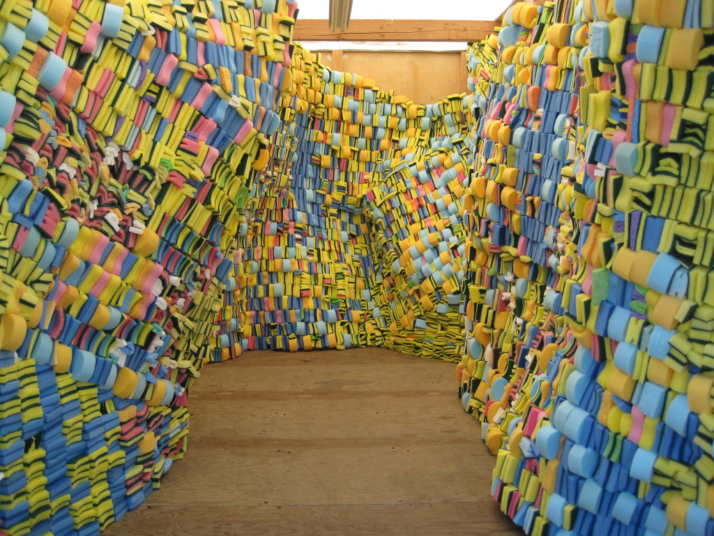 Array. 2012. Installed in storage POD. Sponges.