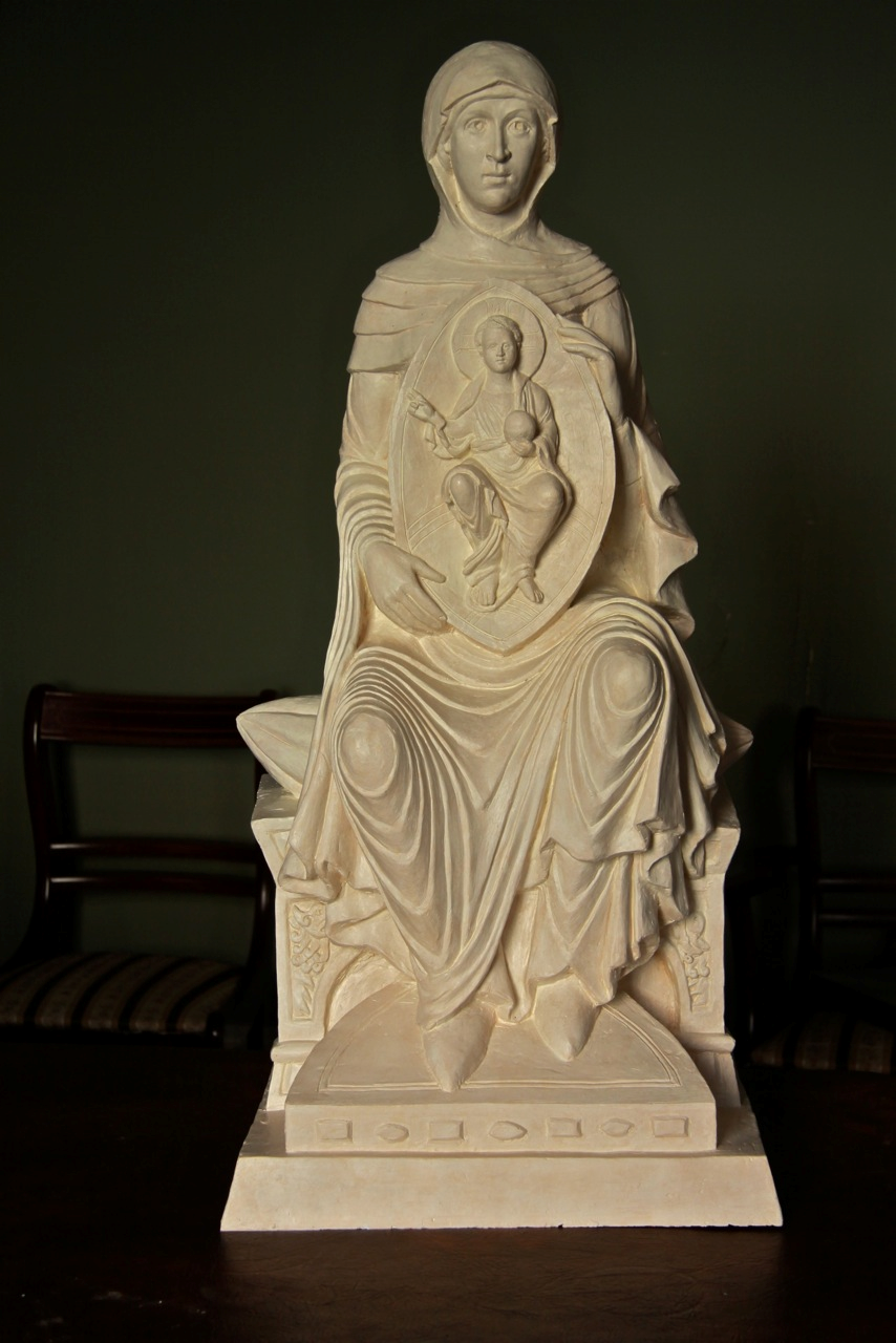 Half-size maquette for the sculpture of Our Lady of Lincoln, made by Aidan Hart.  Used with permission of artist.