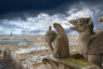 Architecture, church, notre dame, gargoyle