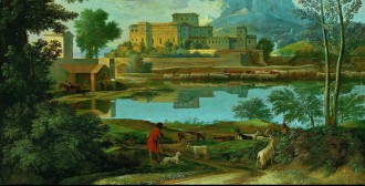 landscape, painting, poussin, nature